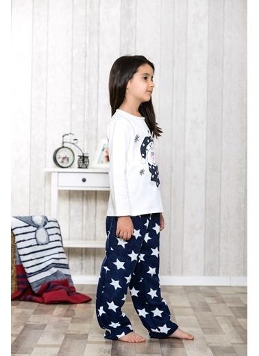 Lingabooms Yıldız Baskılı Kardam Adam Nakışlı 2'li Çocuk Pijama Takım  Pembe